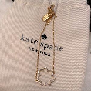 Kate Spade scrunched scallops bracelet gold/clear
